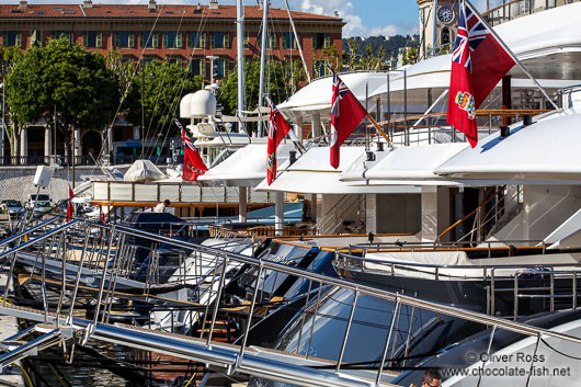Luxury yachts in the port of Nice