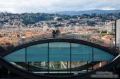 Travel photography:View of the Mamac museum in Nice, France