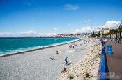 Travel photography:Nice water front and beach, France