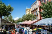 Travel photography:Nice flower market, France