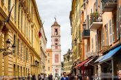 Travel photography:Houses in the old town of Nice, France