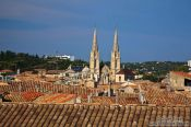 Travel photography:View of the roofs of Nimes  , France