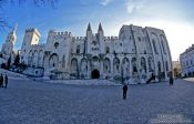 Travel photography:Old Papal Residence in Avignon, France