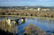 Travel photography:Old bridge in Avignon, France