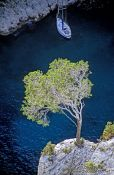 Travel photography:Boat in the Calanques de Provence, France