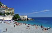 Travel photography:The municipal beach in Nice, Côte d`Azur, France