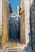 Travel photography:Street in Forcalqueret, France