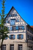 Travel photography:Half-timbered house in Wangen , Germany