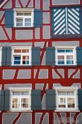 Travel photography:Half-timbered facade in Wangen, Germany