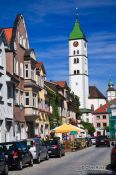 Travel photography:Main street in Wangen , Germany