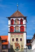 Travel photography:Tower above one of the Wangen city gates, Germany