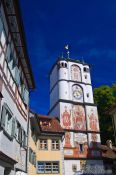 Travel photography:Tower above one of the city gates in Wangen , Germany