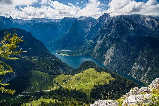 View of the Königssee (king´s lake) and the Berchtesgaden National Park
