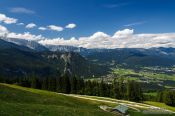 Travel photography:Panoramic view over the Berchtesgaden mountains, Germany