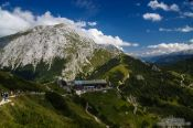 Travel photography:Hikers on a treck through the mountains near Berchtesgaden, Germany