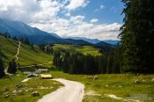 Travel photography:Path in the Berchtesgaden mountains, Germany