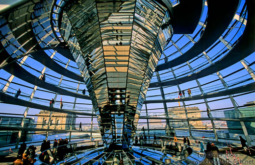 The glass cupola on top of the Reichstag