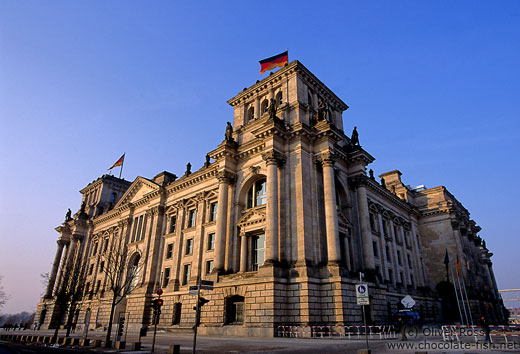 The Reichstag at sunset
