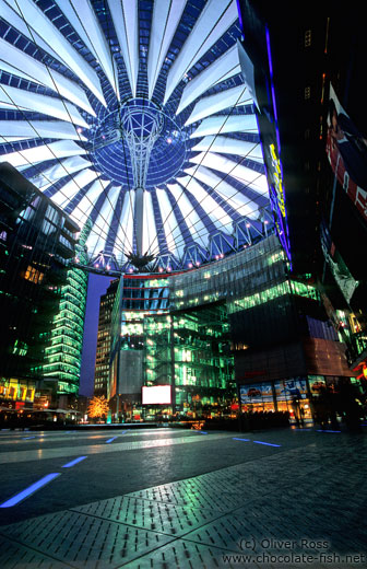 The Sony Centre on the Potsdamer Platz