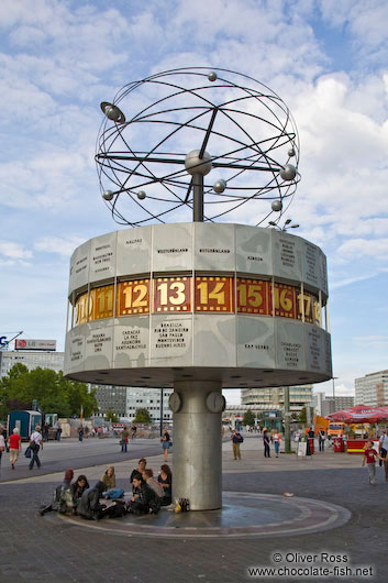 World clock (Weltzeituhr) on the Alexanderplatz