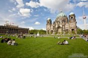 Travel photography:The Dom with Altes Museum and TV tower in the background, Germany