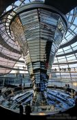Travel photography:The glass cupola construction atop the Reichstag, Germany