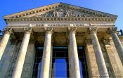 Travel photography:The Reichstag facade, Germany