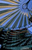 Travel photography:Roof detail of the Sony Centre on Potsdamer Platz, Germany