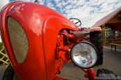 Travel photography:Old Porsche tractor at a fun fair near the Lustgarten, Germany