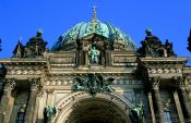 Travel photography:Facade of the old dome in Berlin, Germany