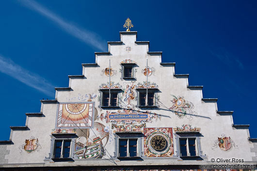 Facade detail of the Lindau town hall