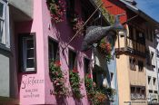 Travel photography:Facades in Lindau , Germany