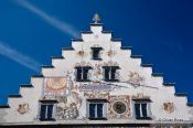 Travel photography:Facade detail of the Lindau town hall, Germany