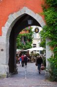 Travel photography:One of the old gates into Meersburg city, Germany