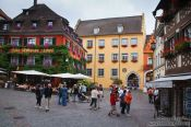 Travel photography:Town square in Meersburg , Germany