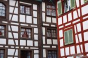 Travel photography:Half-timbered facades in Meersburg , Germany