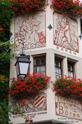 Travel photography:Facade detail in Meersburg , Germany