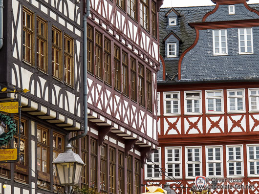 Half-timbered houses at the Frankfurt Römer