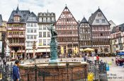 Travel photography:The old Römer, Frankfurt central city square, Germany