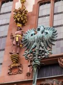 Travel photography:Facade detail of the Frankfurt city hall, Germany