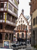 Travel photography:Half-timbered houses near the Frankfurt Römer, Germany