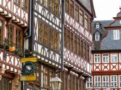Travel photography:Half-timbered houses at the Frankfurt Römer, Germany