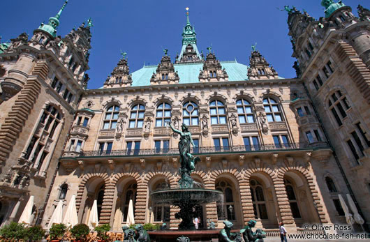 Interior courtyard of the Rathaus (city hall) in Hamburg