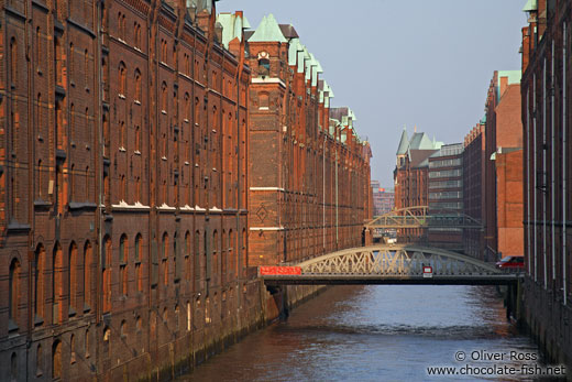 Old warehouses in Hamburg`s Speicherstadt