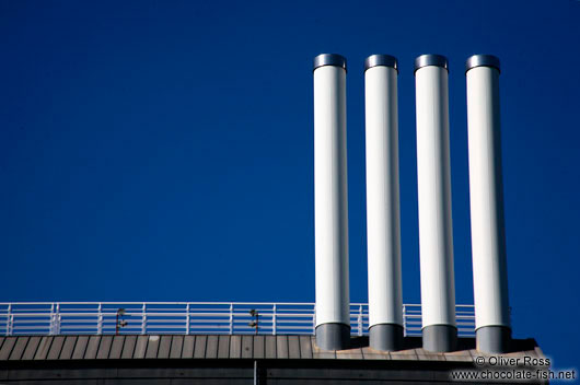 Four chimneys in Hamburg