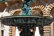 Travel photography:Fountain in the courtyard of the Rathaus (city hall) in Hamburg, Germany