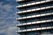 Travel photography:Modern building facade in Hamburg, Germany