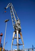 Travel photography:Crane in Hamburg harbour, Germany