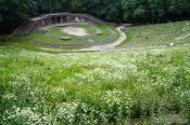 Travel photography:The Thingstätte, a Nazi-era amphi-theatre based on nordic mythology, now largley overgrown, Germany