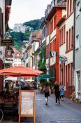 Travel photography:Street in Heidelberg´s old town, Germany